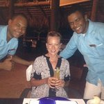 Our favorite Wait Staff - Lonnie and Omar
