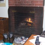 fireplace in cottage #8