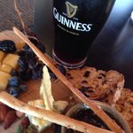 Guinness and the Cheese plate.  Mmmm!