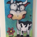 Crazy Cow paintings on display:)
