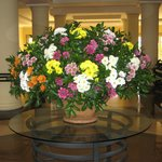 Flower arrangement in the foyer