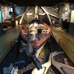 Old whaling boat exhibit.