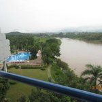 The view from our room at Dusit Island Resort, Chiang Rai, Thailand
