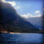 Lush mountain and sea views on the Olu Deniz boat trip