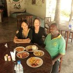 SItting with Ali (the local owner) in Pakacha's restaurant famous for its exceptional seafood di