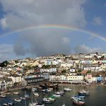 Rainbow over Brixham Harbour