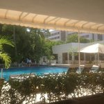 View from poolside restaurant