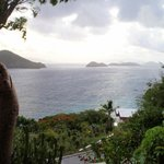 View of St. John and BVI from balcony