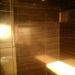 Rainfall shower and stool