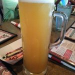 Enjoying a Blue Moon @ Monk's Bar & Grill