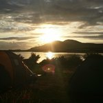 sunset from our tent