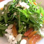Arugula, feta, dried apricot, roasted almonds, Pernod-onion vinaigrette ($10)