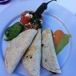 Trio of quesadillas