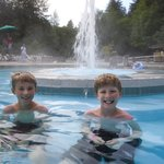 Family fun in the hot springs pools.
