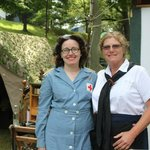 Burnadette and Cindy Re-enactors at D-Day Conneaut, Ohio