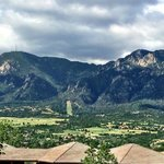 View from hotel room deck at Cheyenne Mtn Resort