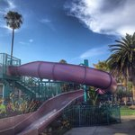 Cool slide that my kids didn't get to enjoy because it was closed by the time we checked in.