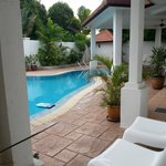 Pool view from the house Rumah Putih B&B