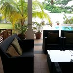Outside seating @Rumah Putih B&B