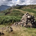 langdale Pikes from Spedding crag above the village