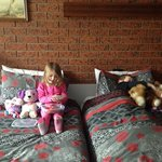 Single beds in family room. Great for kids.