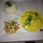 Coconut Curry Shrimp. Very yummy and wife loved tasting mine!