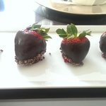 Chocolate dipped strawberries, very kind