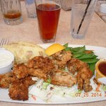 Delicious fried oysters