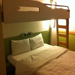 Bunk Bed above double Bed