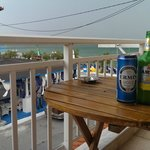 view from balcony (and greek beer)