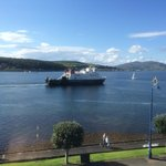 Wemyss Bay ferry leaving from our room.