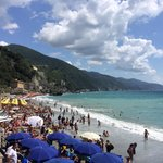 The beach in monterosso