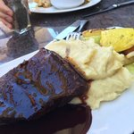 Short ribs . I could survive without the sides: mashed potatoes bland and vegetables .. under se