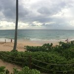 view of beach waiting for hurrican Iselle to arrive