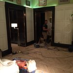 2:00 am noisy Renovation in the Lobby! Worker sanding the floor for the second nightWe can not s