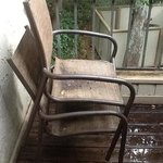 here's the deck with the rotten chairs