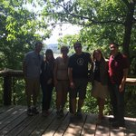 Group Photo at the Overlook: Allegheny River and Clarion River Confluence