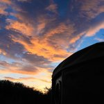 Sunset over the yurt