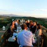 rooftop dinner in Castelmuzio