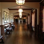 Hallway to function rooms with Audubon reproductions