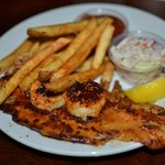Blackened Fish Filet with Scallops