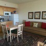 2 room suite. .kitchenette and living room area. .lot of room and places to sit