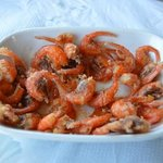 Chalki Shrimp, best on the island.