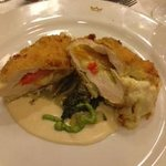 Stuffed chicken at Italian place