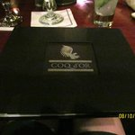 Menu at the Coq d'Or restaurant... very tasty.