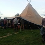 Live music in the teepee