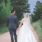 You can take beautiful bridal portraits at the Black Forest Bed and Breakfast