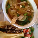 tamale and tortilla soup
