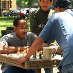 Chess players at DuPont Circle.