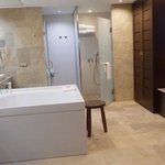 beautiful suite : double sinks walk in shower